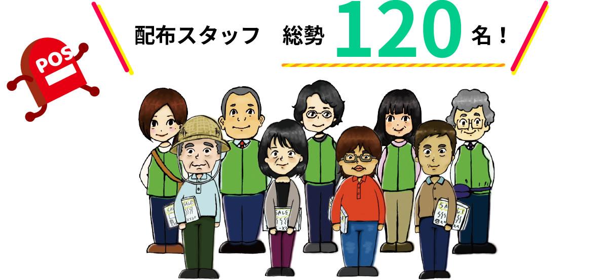 配布スタッフ 総勢70名